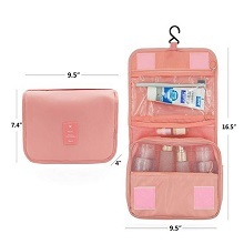 peach toiletry bag
