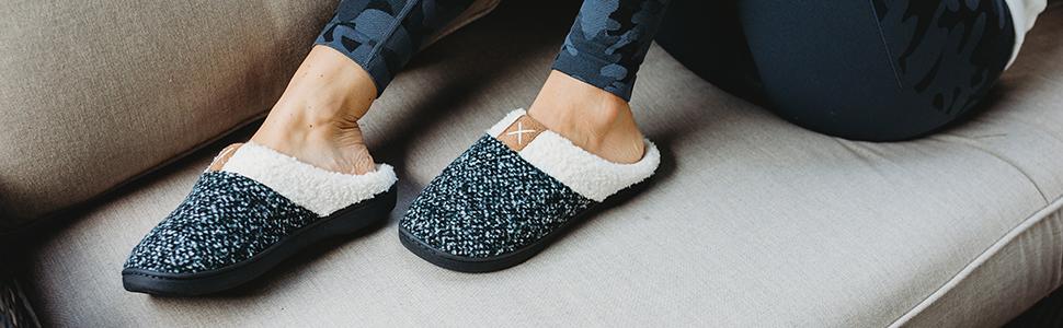 Pantofole Casa Esterno Donna Uomo Memory Foam Ciabatte