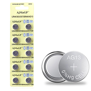 Amazon Com 10 Pack 1 5v Lr44 Ag13 357 303 Sr44 Button Coin Cell Battery Electronics