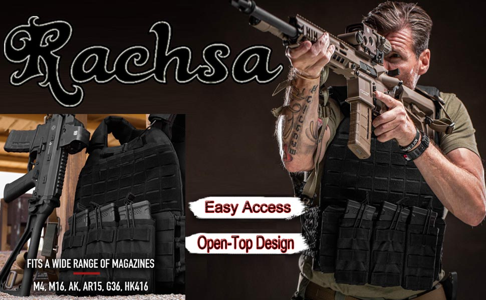 Molle Open Top Triple Mag Pouch for Rifle