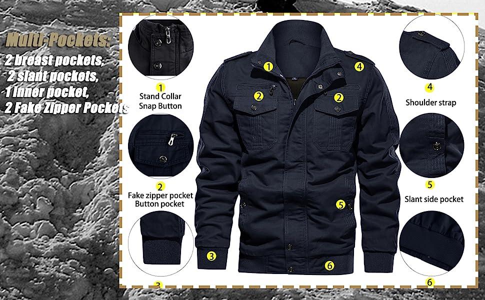 cargo jacket coat outerwear for men