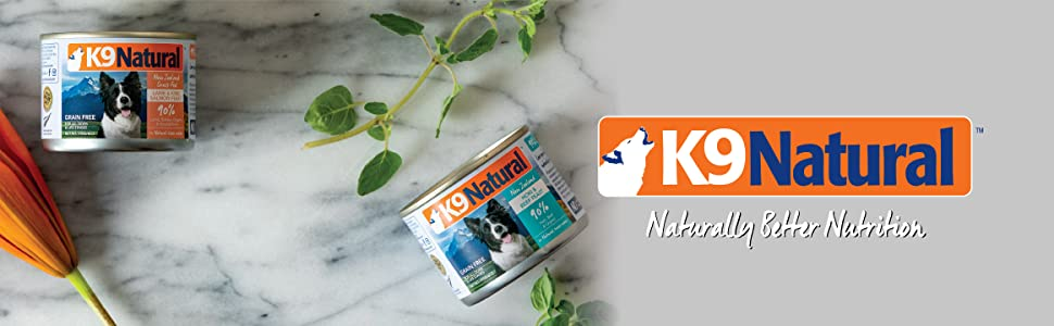 K9 Natural grain free gluten free dog cans