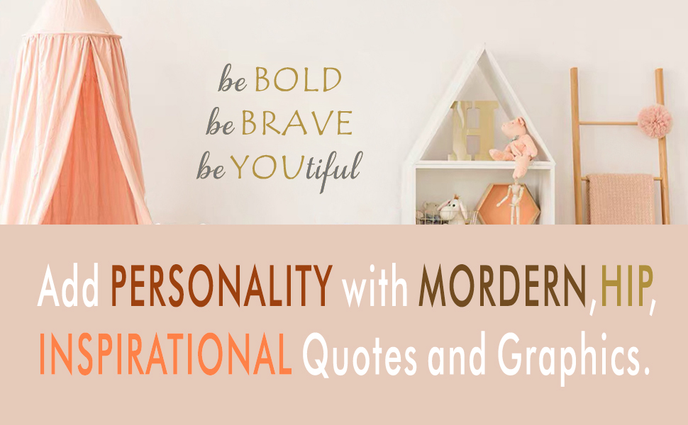 add personality with battoo wall decals