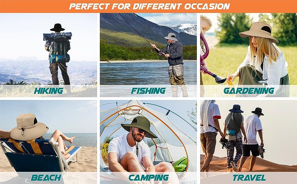 sun hat for hiking, gardening, travel, beach, camping, fishing