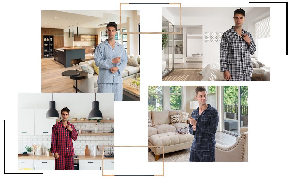 mens summer pyjamas