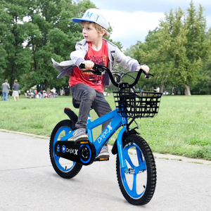 16 inch little boys bike with basket and bell