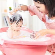 Silicone body scrubber application