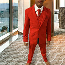Boy Red suit