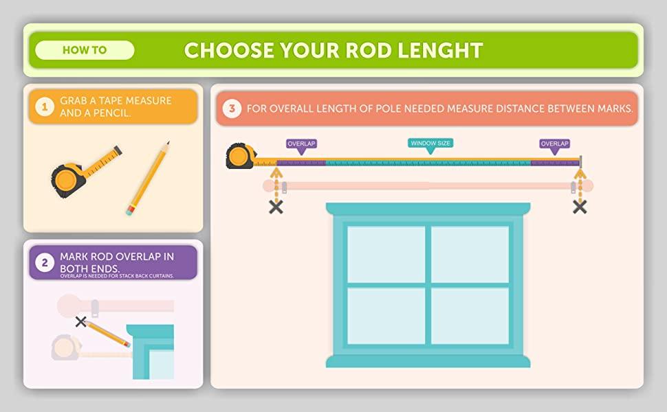 measure a curtain rod window