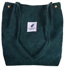 Cord Umhängetasche Damen, Cord-Tasche, Ultraleichte Damen-Umhängetasche mit Großer Tasche
