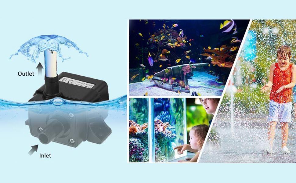 3.6W Aquarium Submersible Pump