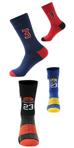 Basketball Number Socks