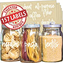157 white pantry labels