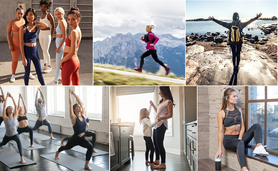 High Waist Yoga Leggings for Women Pockets,Tummy Control Workout Running Pants,Athletic Leggings