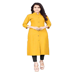 kurti , rayon kurta , teal , buttons , sleev , sleeve ,wooden , material , heavy , stylish , top
