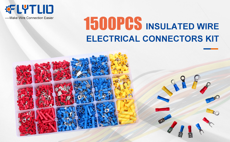 1500pcs Insulated Wire Electrical Connectors