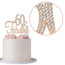 60 cake topper 60th birthday party decorations decoration sixty toppers
