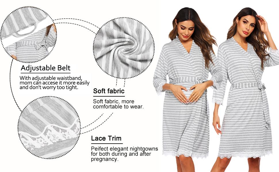 maternitu nursing nightgown for hospital
