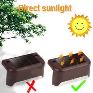 Solar Deck Lights Outdoor, 16 Pack Solar Step Lights LED Waterproof Solar Fence Lights for Outdoor