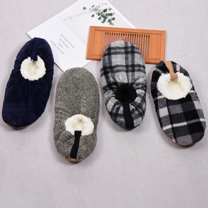 Panda Bros Fluffy Slipper Socks with Non Slip Women House Lined Socks Boat Super Cozy Hospital Slippers