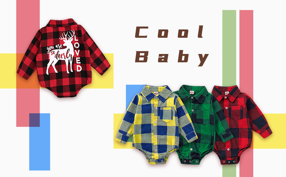 baby plaid romper