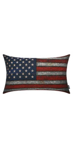 Trendin Metal USA Map Pillow Cover 18x18 inch