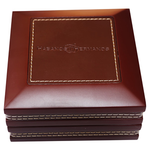Compact Cigar Ashtray With Leather