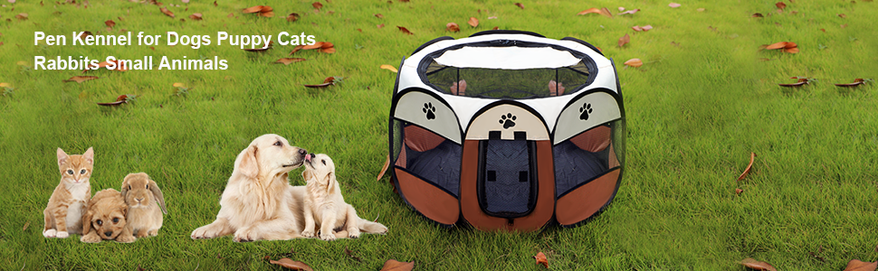 Pen Kennel for Dogs Puppy Cats Rabbits Small Animals