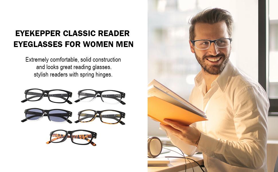 EYEKEPPER CLASSIC READER EYEGLASSES FOR WOMEN MEN