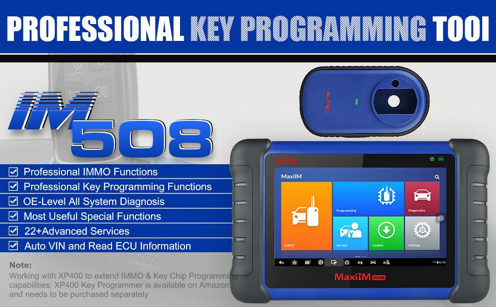 SAS Advanced IMMO Programming OBD2 Scanner Oil Reset Autel MaxiIM IM508 Key Programming Diagnostic Scan Tool with XP200 Key Programmer EPB BMS DPF