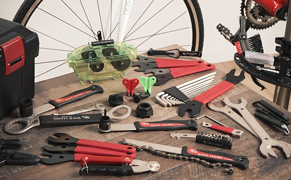Bike Cycle Bicycle Tyre Tube Puncture Repair Tools Kit for Emergency DIY 18 Pcs