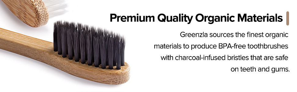 bamboo toothbrush Charcoal toothbrushes Organic  Biodegradable Organic zero-waste Natural adult