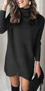 Turtleneck Sweater Mini Dress