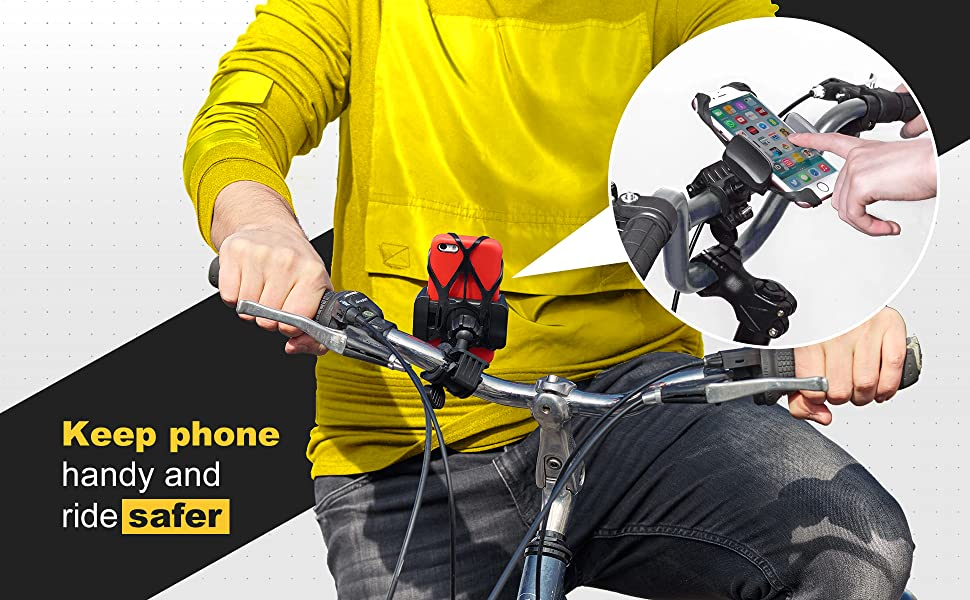 phone mount for bicycle
