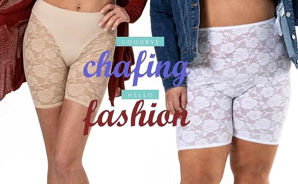 Bandelettes, anti chafing, prevent chafing, biking shorts, chub rub, thigh irritation, chafing
