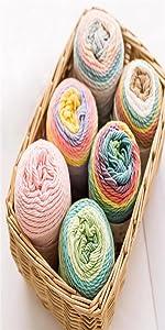 Rainbow Segment Dyed Yarn