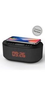wireless charging alarm clock, Bluetooth alarm clock, radio alarm clock, bedside clock