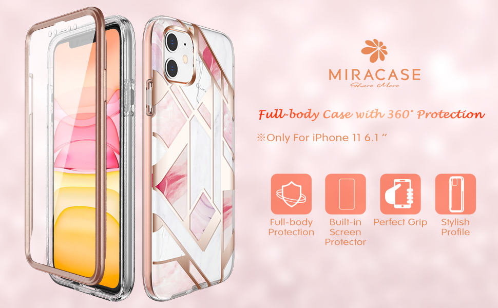 Full-body Case with 360 Degree Protection Perfect Grip Built-in Screen Protector
