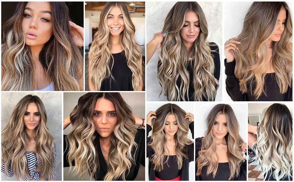 long ombre wavy wig