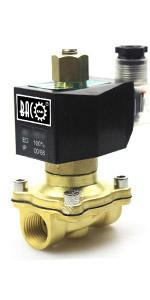 BACOENG DC 12V 1//4 v/álvula de solenoide el/éctrica Lat/ón Viton Solenoid Valve para agua aire aceite NC