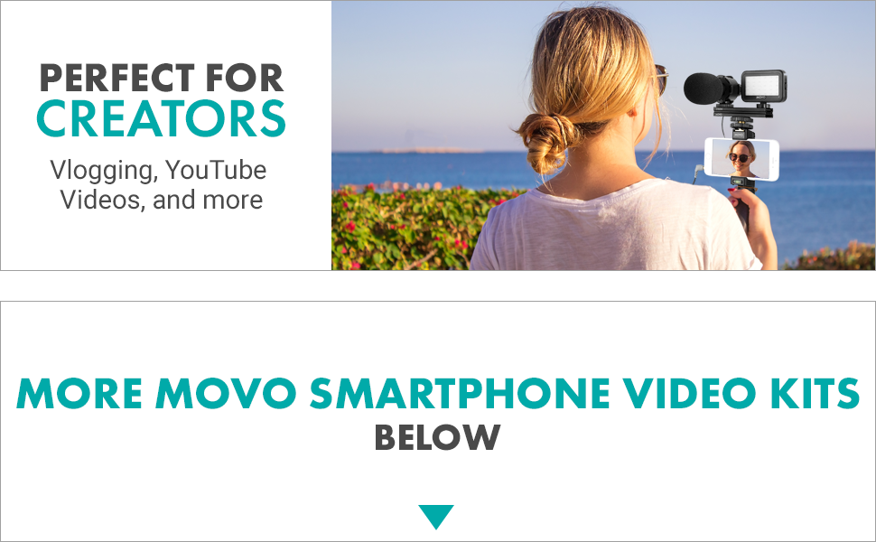 movo iphone vlogging kit  iphone microphone for video recording iphone rig smartphone video kit