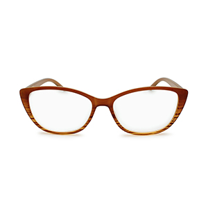 cat eye reading glasses for women brown ombre color