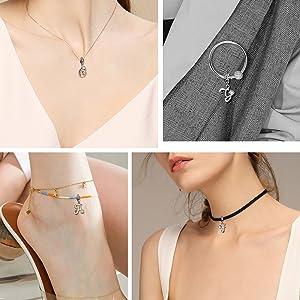 Letter Charms fit bracelet necklace