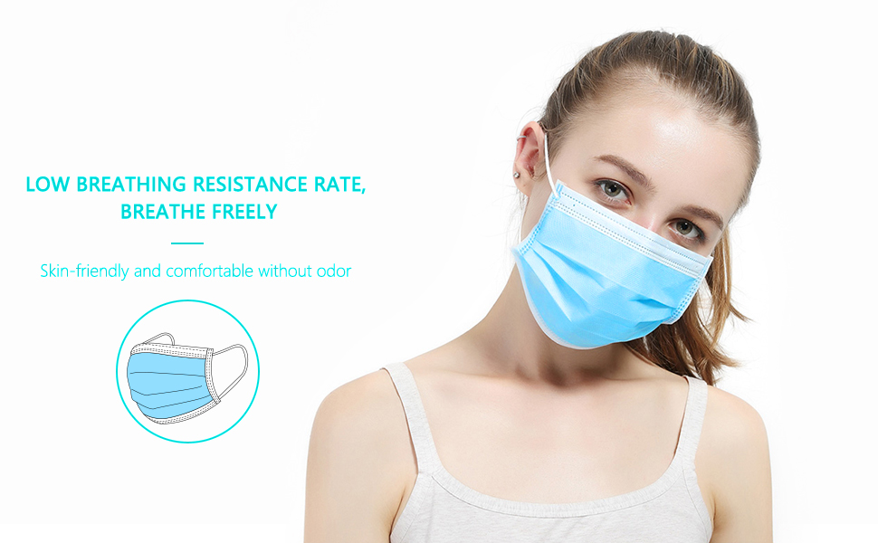 riderscart melt blown 3 ply 3 layer mask for medical purpose