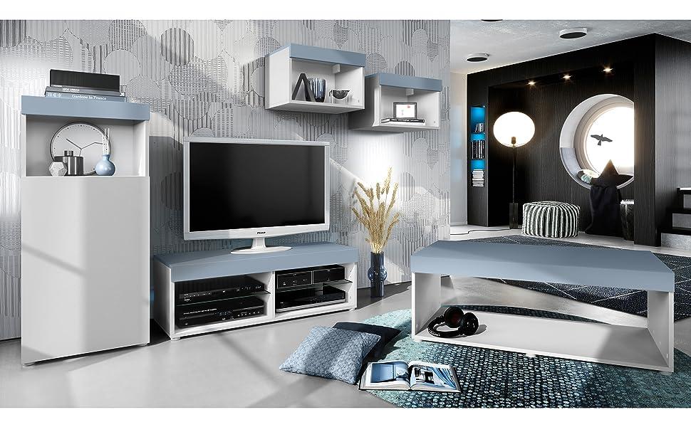 Conjunto de Muebles Pure para Sala de Estar | Mesa Baja, 2 ...