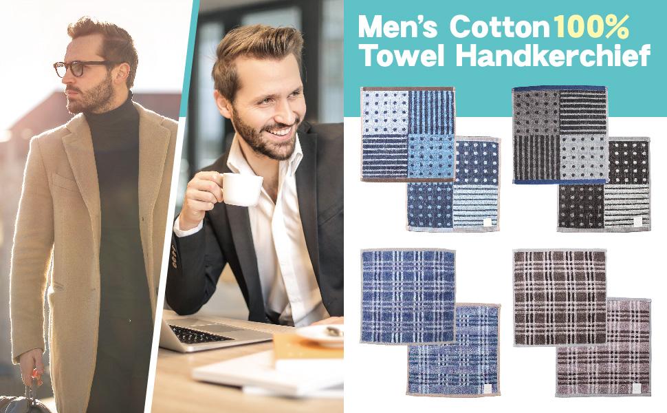Handkerchief Towel Men's Set