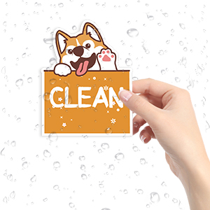 dishwasher clean dirty sign