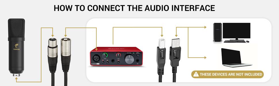 XLR condenser microphone