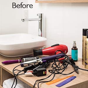 Stock Your Home Hair Care Organizer - Blow Dryer Holder - Hair Styling Station - Bathroom Vanity