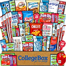 care package snacks candy treats cookies candies chips gift box food college students girls boys mom